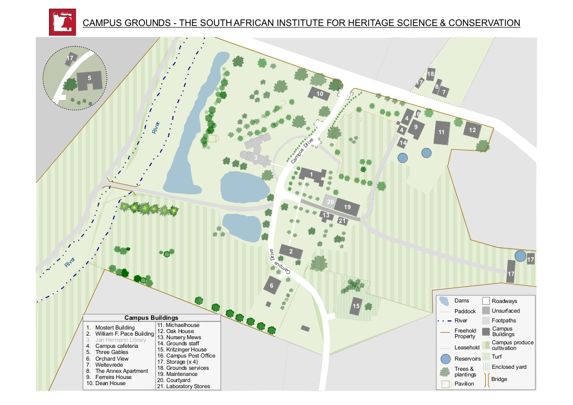 Pace Campus Map.The South African Institute For Heritage Science Conservation